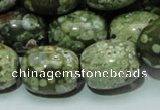 CRH16 15.5 inches 16*20mm egg-shaped rhyolite beads wholesale
