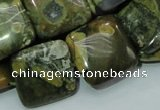 CRH19 15.5 inches 20*20mm square rhyolite beads wholesale