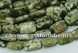 CRH23 15.5 inches 8*12mm rectangle rhyolite beads wholesale