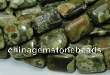 CRH24 15.5 inches 10*14mm rectangle rhyolite beads wholesale