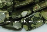 CRH27 15.5 inches 18*24mm rectangle rhyolite beads wholesale