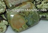 CRH29 15.5 inches 30*40mm rectangle rhyolite beads wholesale