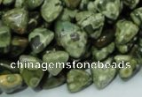 CRH30 15.5 inches 10*10mm triangle rhyolite beads wholesale