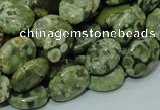CRH43 15.5 inches 10*14mm oval rhyolite beads wholesale