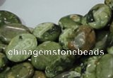 CRH44 15.5 inches 12*16mm oval rhyolite beads wholesale