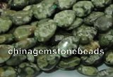CRH47 15.5 inches 8*12mm flat teardrop rhyolite beads wholesale
