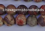 CRH513 15.5 inches 10mm round matte rhyolite gemstone beads