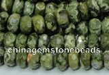 CRH53 15.5 inches 6*10mm faceted rondelle rhyolite beads wholesale