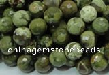 CRH57 15.5 inches 10mm faceted round rhyolite beads wholesale