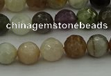 CRO1042 15.5 inches 8mm faceted round mixed gemstone beads