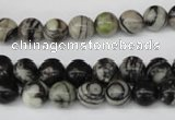 CRO105 15.5 inches 8mm round black water jasper beads wholesale