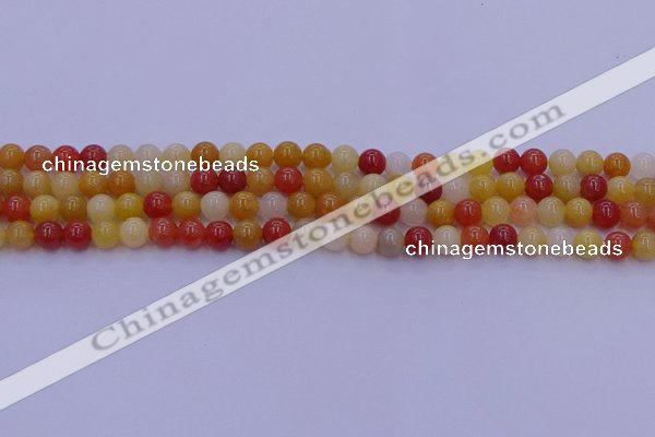 CRO1161 15.5 inches 6mm round golden silk jade beads wholesale