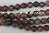 CRO14 15.5 inches 6mm round red leopard skin jasper beads wholesale