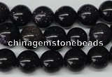CRO229 15.5 inches 10mm round blue goldstone beads wholesale