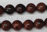 CRO280 15.5 inches 12mm round mahogany obsidian beads wholesale