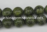 CRO286 15.5 inches 12mm round green lace gemstone beads wholesale