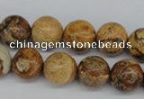 CRO319 15.5 inches 12mm round picture jasper beads wholesale