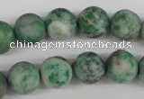 CRO333 15.5 inches 12mm round Qinghai jade beads wholesale