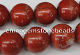 CRO448 15.5 inches 16mm round red jasper beads wholesale