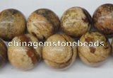 CRO450 15.5 inches 16mm round picture jasper beads wholesale