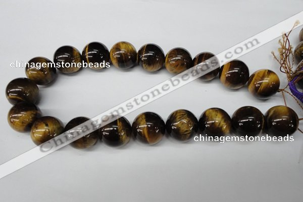 CRO535 15.5 inches 20mm round yellow tiger eye beads wholesale