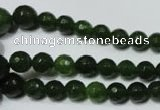CRO714 15.5 inches 6mm – 14mm faceted round candy jade beads