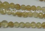 CRO747 15.5 inches 6mm – 14mm faceted round watermelon yellow beads