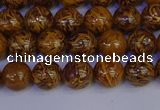 CRO881 15.5 inches 6mm round elephant blood stone beads