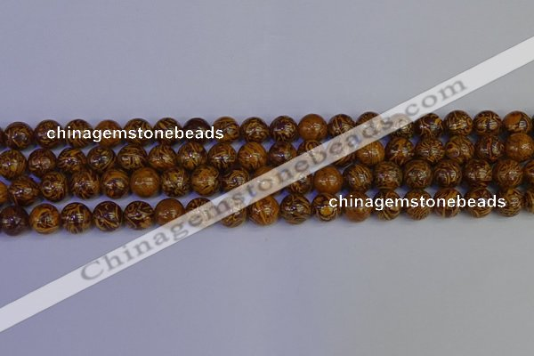 CRO882 15.5 inches 8mm round elephant blood stone beads