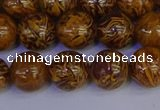 CRO883 15.5 inches 10mm round elephant blood stone beads