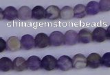 CRO920 15.5 inches 4mm round matte dogtooth amethyst beads