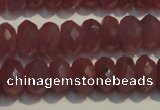 CRZ1018 15.5 inches 4*6mm faceted rondelle A grade ruby beads