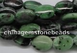 CRZ11 15.5 inches 10*14mm oval ruby zoisite gemstone beads wholesale