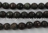 CRZ202 15.5 inches 8mm faceted round ruby zoisite gemstone beads
