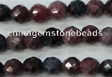 CRZ511 15.5 inches 6mm faceted round natural ruby sapphire beads