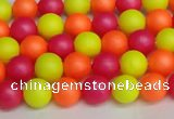 CSB1425 15.5 inches 4mm matte round shell pearl beads wholesale
