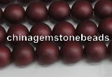 CSB1452 15.5 inches 8mm matte round shell pearl beads wholesale