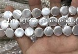CSB2138 15.5 inches 14mm coin shell pearl beads wholesale