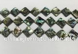 CSB4121 15.5 inches 14*14mm diamond abalone shell beads wholesale