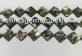 CSB4122 15.5 inches 16*16mm diamond abalone shell beads wholesale