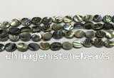 CSB4125 15.5 inches 8*10mm oval abalone shell beads wholesale
