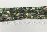CSB4143 15.5 inches 8*8mm square abalone shell beads wholesale