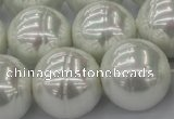 CSB660 15.5 inches 22mm whorl round shell pearl beads
