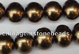 CSB806 15.5 inches 13*15mm oval shell pearl beads wholesale