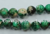 CSE220 15.5 inches 8mm round dyed natural sea sediment jasper beads