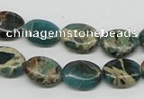 CSE5011 15.5 inches 10*14mm oval natural sea sediment jasper beads