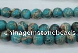 CSE75 15.5 inches 8mm round dyed natural sea sediment jasper beads