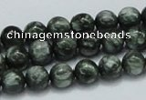 CSH02 15.5 inches 8mm round natural seraphinite gemstone beads