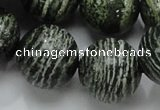 CSJ09 15.5 inches 20mm round green silver line jasper beads wholesale