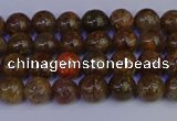 CSL220 15.5 inches 4mm round gold leaf jasper beads wholesale